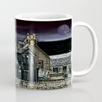 police Mugs featuring Police House by Valerie Paterson