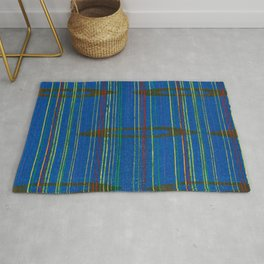 Golden Circles Stripes Japanese Shima-Shima Pattern Rug
