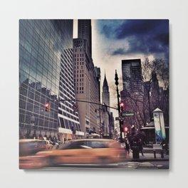 New York Streets 1 Metal Print