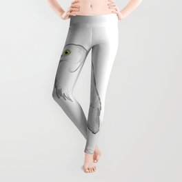 Grey Heron Minimalist Leggings