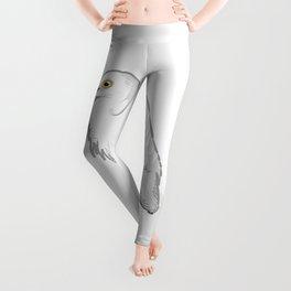 Grey Heron Minimalist Leggings