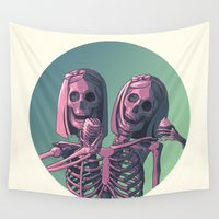 ahs Wall Tapestries featuring Siamese Twins by Beesants