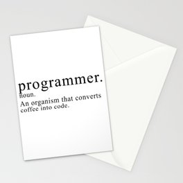 Programmer Description Stationery Cards
