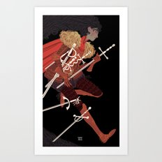 7 of Swords Art Print