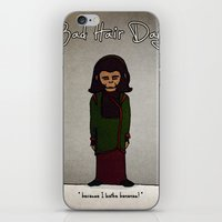 planet of the apes iPhone & iPod Skins featuring bad hair day no:1 / Planet of the Apes by niles yosira