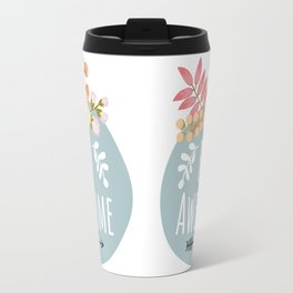 BE Awesome Floral Banner Travel Mug