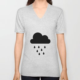 black rain cloud Unisex V-Neck