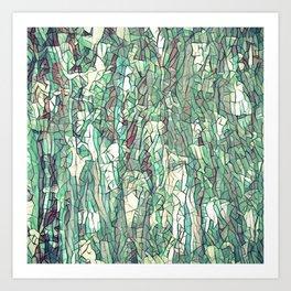 Abstract green Art Print