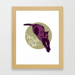 My fair cat in the purple Framed Art Print