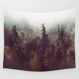 Mountain Morning Mist - Nature Photography Wall Tapestry