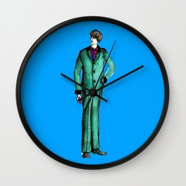 Beetles Green Dandy Wall Clock