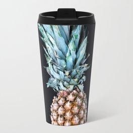 Pineapple On A Black Background #decor #society6 Travel Mug