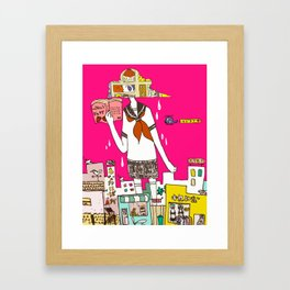 Cloud Shoujo Framed Art Print