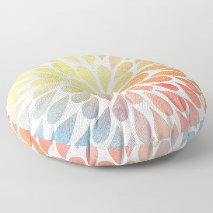 Petal Burst #26 Floor Pillow