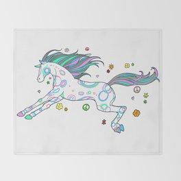 Hippie Horse Throw Blanket
