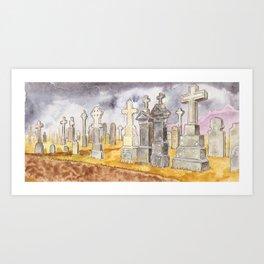 graveyard Art Print