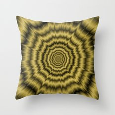 Eye Boggling Explosion in Gold Throw Pillow