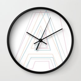 Intertwined Strength and Elegance of the Letter A Wall Clock