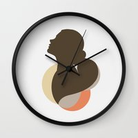 silhouette Wall Clocks featuring Silhouette by carolam