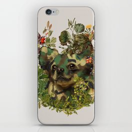 Camo Chihuahua Forest Adventure iPhone Skin