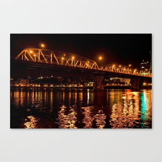 hawthorn bridge Canvas Print