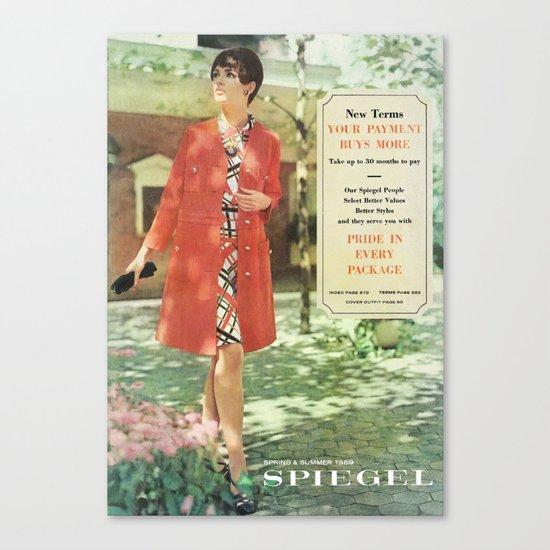 1969 - Spring SUmmer Catalog Cover Canvas Print