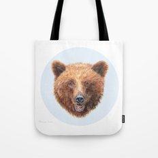 Brown Bear portrait Tote Bag