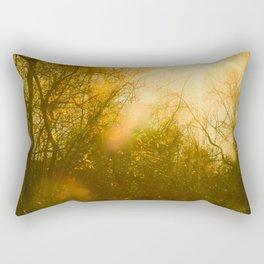 Golden Yellow Autumn Sunlight Rectangular Pillow