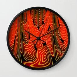 Molten lava Wall Clock