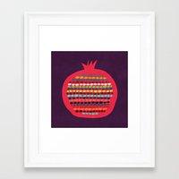 pomegranate Framed Art Prints featuring Pomegranate by Picomodi