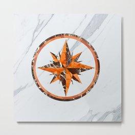 Wind rose ~ Inlaid marble Metal Print