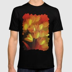 Abstract Flower MEDIUM Mens Fitted Tee Black