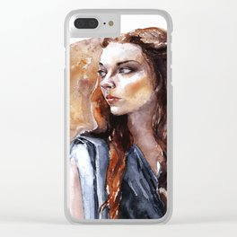 Margaery Tribute Clear iPhone Case