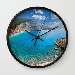 The spectacular Porto Katsiki in Lefkada, Greece Wall Clock