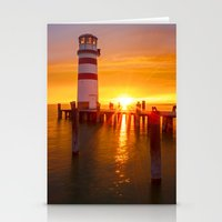 lighthouse Stationery Cards featuring lighthouse by Photoplace