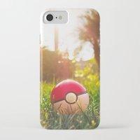 pokeball iPhone & iPod Cases featuring Pokeball by Nima Nakhshab