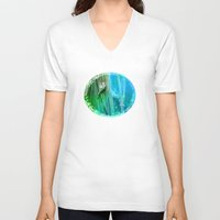 psychadelic V-neck T-shirts featuring Psychadelic Seahorse by Heidi Fairwood