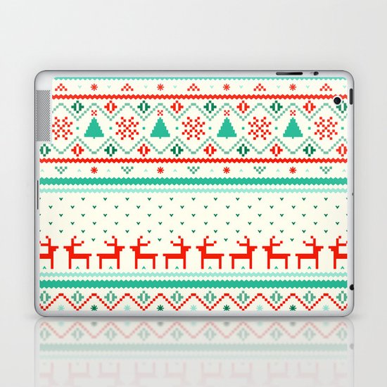 Festive Fair Isle Laptop & iPad Skin