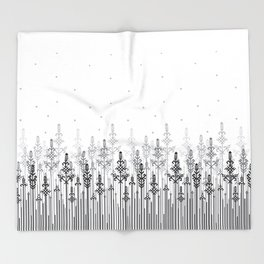 White field Throw Blanket