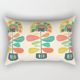 Fan Flower Rectangular Pillow