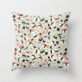 Yummy Sushi! Throw Pillow