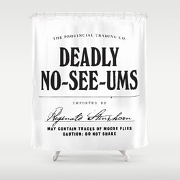 Deadly No-See-Ums Shower Curtain