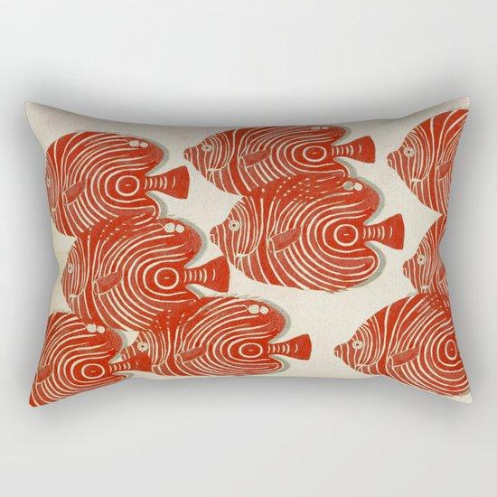 Shoal of Red Fish Rectangular Pillow