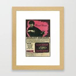 Count Dante Framed Art Print