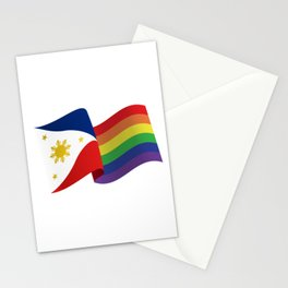Philippine Rainbow Pride Flag Unofficial Stationery Cards