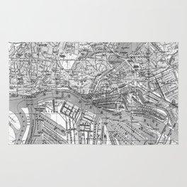 Vintage Map of Hamburg Germany (1910) 2 BW Rug