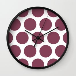 Large Polka Dots: Mulberry Wall Clock