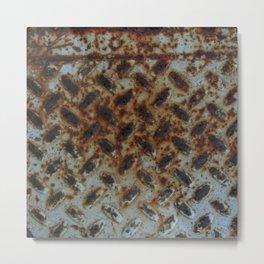 Rusty Metal Step Metal Print