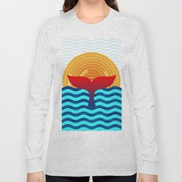 024 tail of the whale Long Sleeve T-shirt
