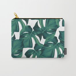 Tropical Monstera Leaves Pattern #2 #foliage #decor #art #society6 Carry-All Pouch